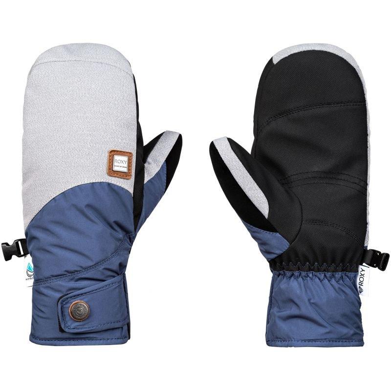 Bílé zimní rukavice Roxy - velikost L