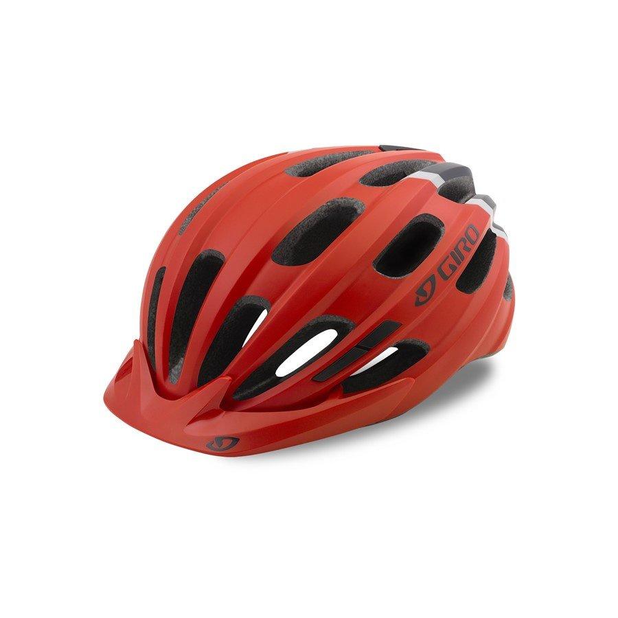 Červená dětská cyklistická helma Giro - velikost 50-57 cm