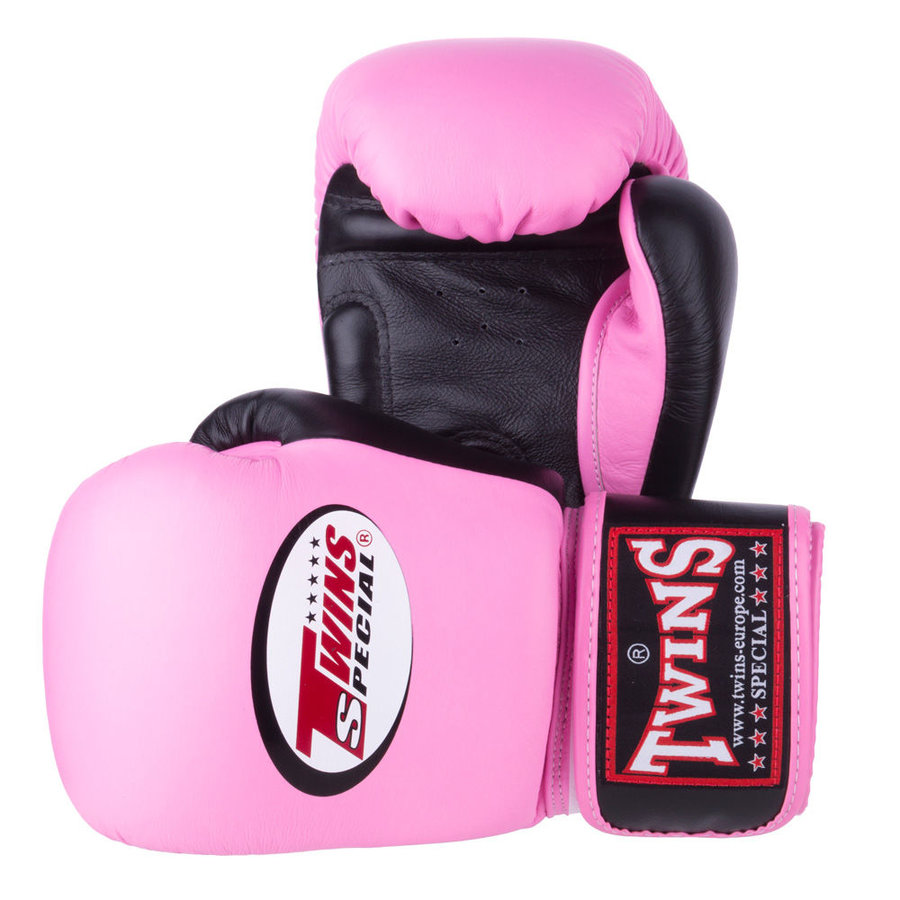 Růžové boxerské rukavice Twins - velikost 10 oz