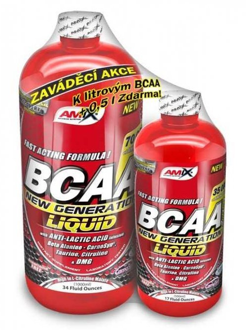 BCAA - 1 + 1 Zdarma: BCAA New Generation Liquid - Amix 1000 ml + 500 ml Pink lemonade