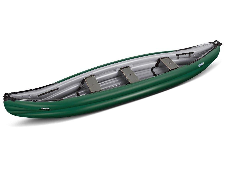 Zelená nafukovací kánoe pro 3 osoby Scout Standard, Gumotex