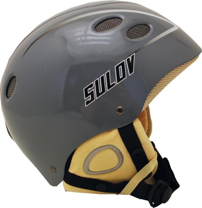 Šedá lyžařská helma Sulov - velikost 58-60 cm