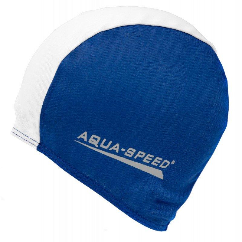 9166f1b5cdc Bílo-modrá dámská nebo pánská plavecká čepice Aqua-Speed