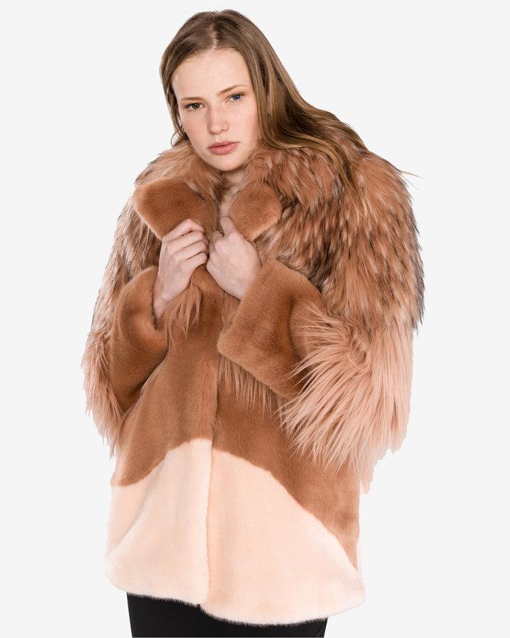 Hnědá zimní dámská bunda Pinko
