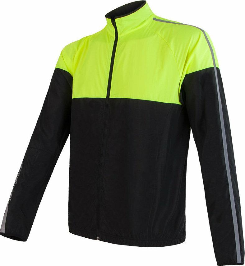 Černo-žlutá pánská cyklistická bunda Sensor - velikost S