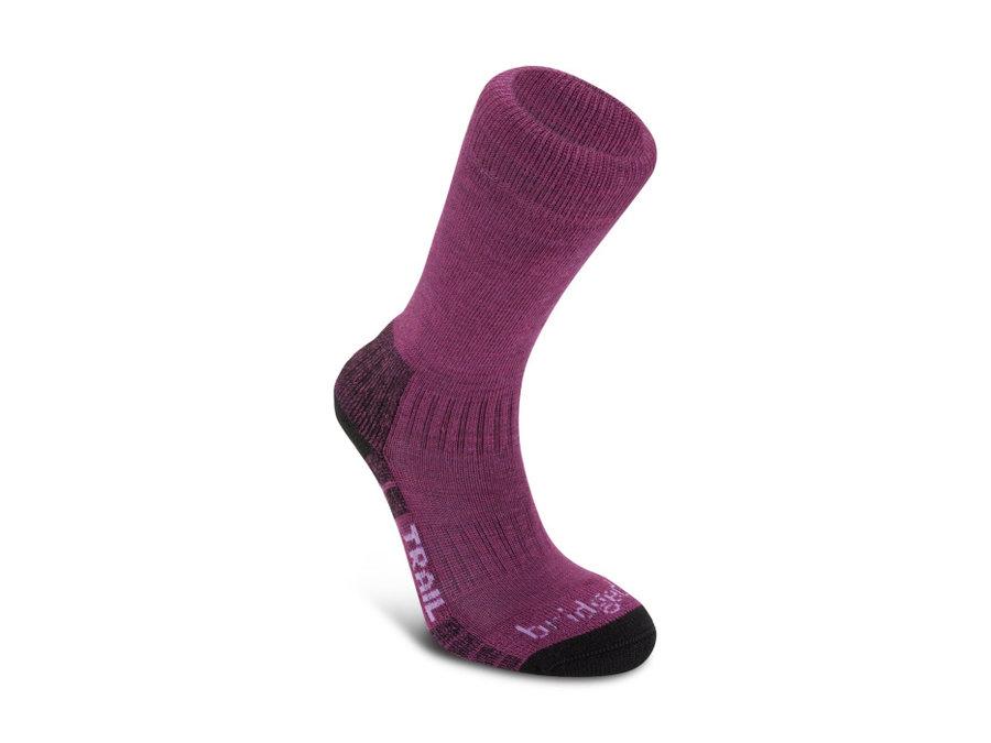 Fialové dámské trekové ponožky Bridgedale - velikost 41-43 EU