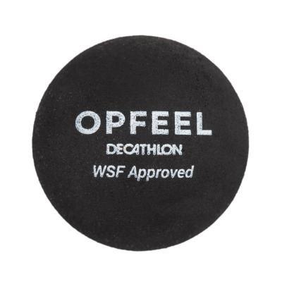 """Černý míček na squash """"dvojitá žlutá tečka"""" Opfeel - 1 ks"""