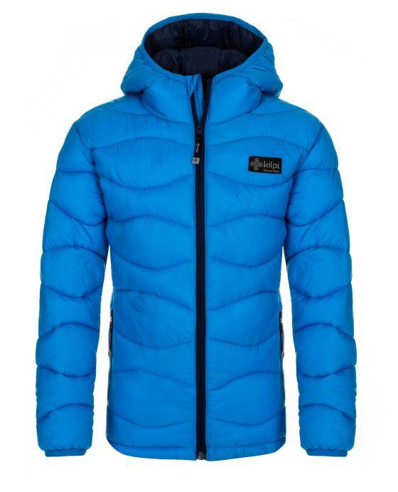 Modrá dětská zimní bunda s kapucí Kilpi