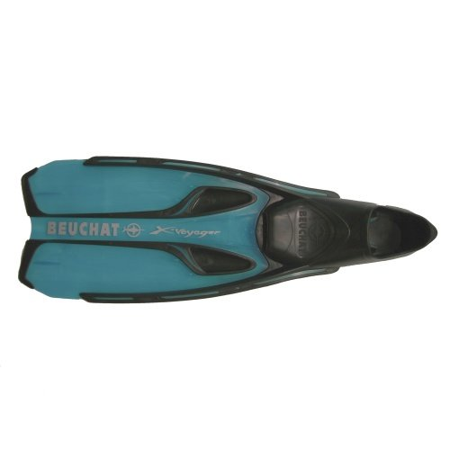 Modré dlouhé potápěčské ploutve X-Voyager, Beuchat