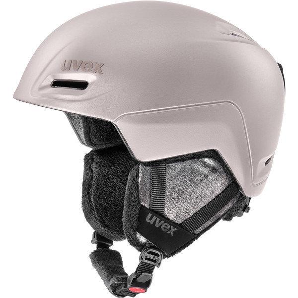 Stříbrná dámská lyžařská helma Uvex - velikost 55-59 cm