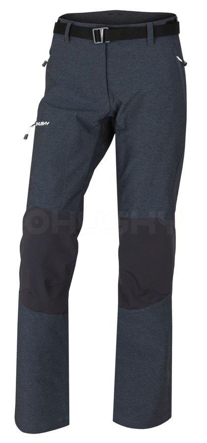 Černé dámské turistické kalhoty Husky - velikost XL