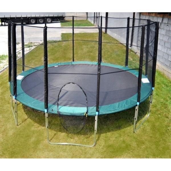 Kruhová trampolína s ochrannou sítí Athletic24 - nosnost 125 kg a průměr 244 cm