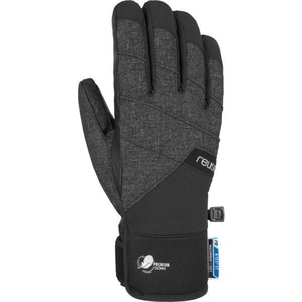 Černo-šedé lyžařské rukavice Reusch