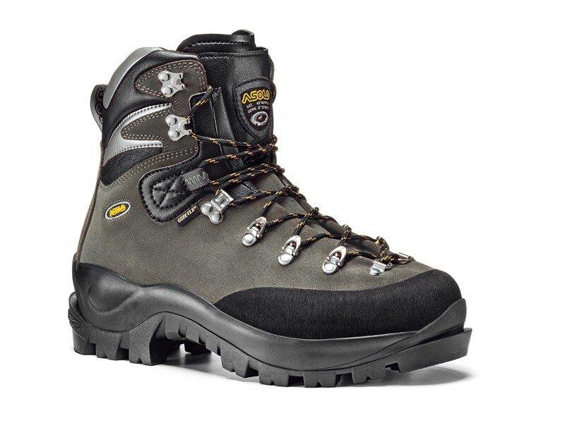 Šedé pánské horolezecké boty Asolo