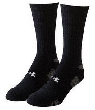 Černé hokejové ponožky Heatgear Crew, Under Armour - velikost 36-41 EU - 3 ks