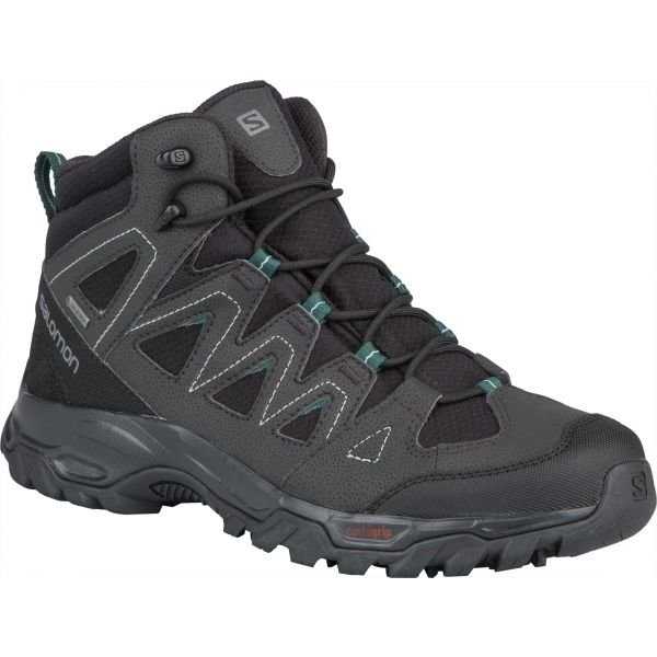 Černo-šedé pánské trekové boty Salomon