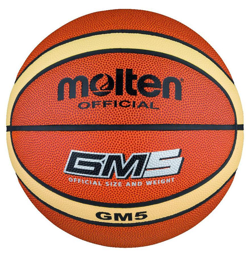 Oranžový basketbalový míč BGM5, Molten - velikost 5