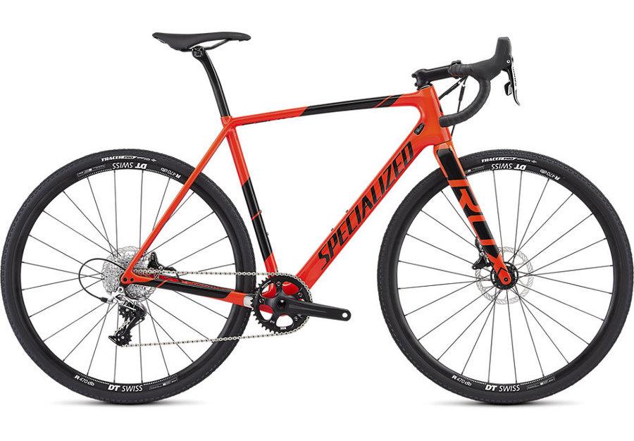 Červený silniční pánský bicykl Specialized