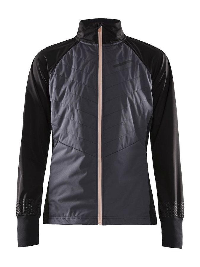 Černo-šedá dámská bunda na běžky Craft