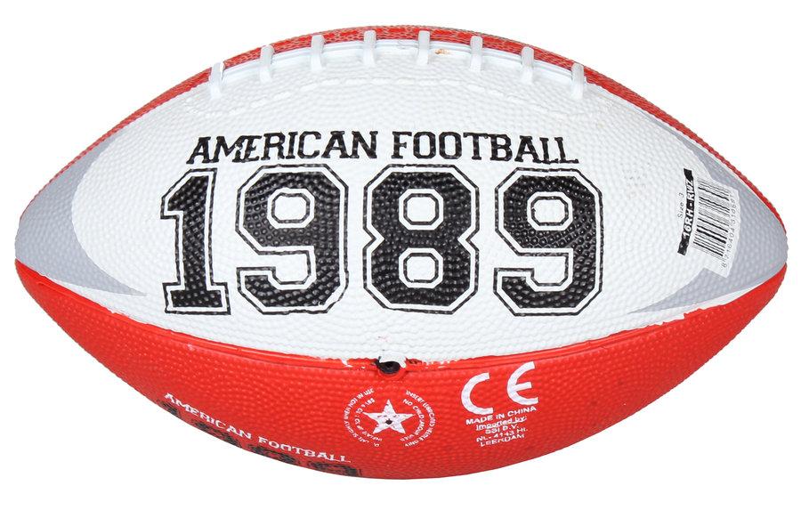 Červený gumový míč na americký fotbal Chicago Mini, New Port - velikost 3