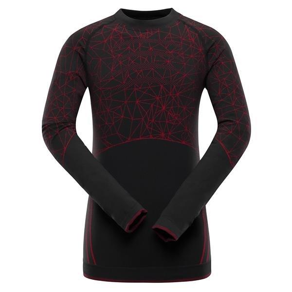 Černé dětské funkční tričko Alpine Pro - velikost S