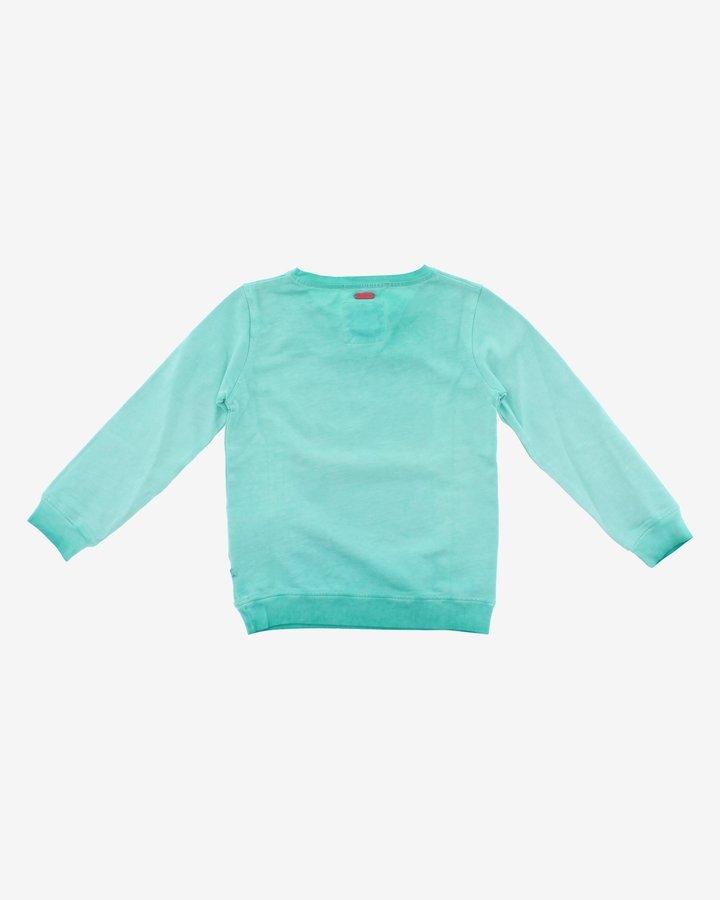Modrá dětská dívčí mikina bez kapuce Pepe Jeans - velikost 128