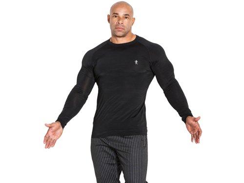 Černé pánské funkční tričko s dlouhým rukávem Kevin Levrone Signature Series - velikost S