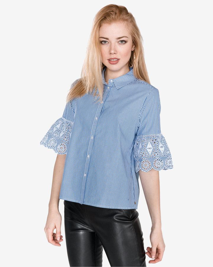 Modrá dámská košile s krátkým rukávem Scotch & Soda - velikost XS
