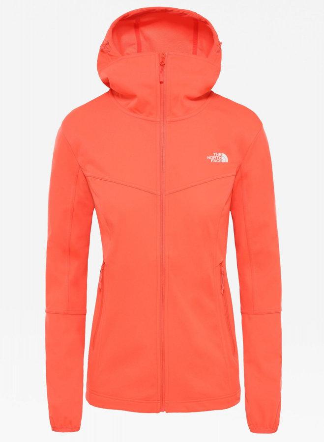 Oranžová softshellová dámská bunda The North Face