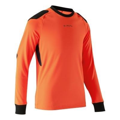 Oranžový dětský brankářský fotbalový dres F100, Kipsta