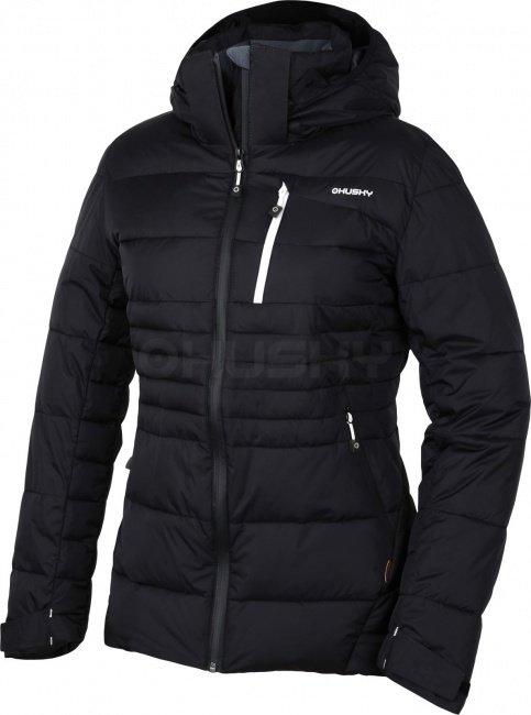 Černá zimní dámská bunda s kapucí Husky - velikost M