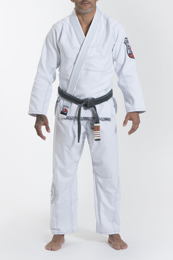 Bílé kimono na jiu-jitsu Grips