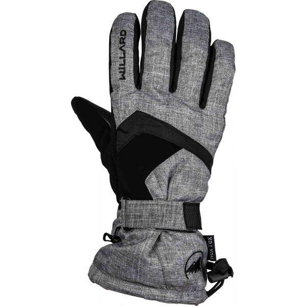 Šedé pánské lyžařské rukavice Willard