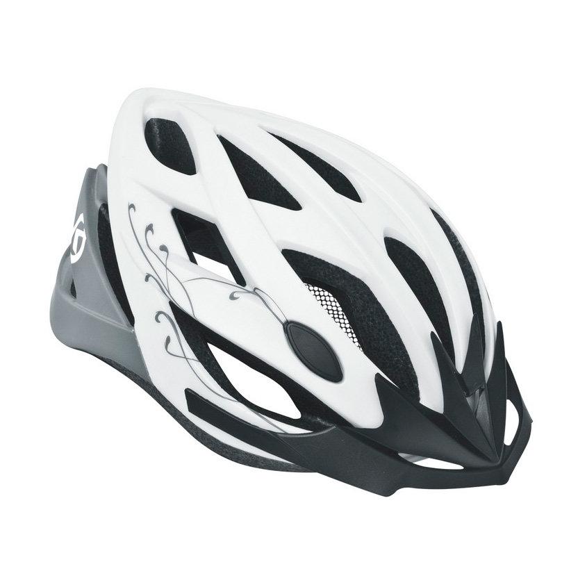 Bílá cyklistická helma Kellys - velikost M-L