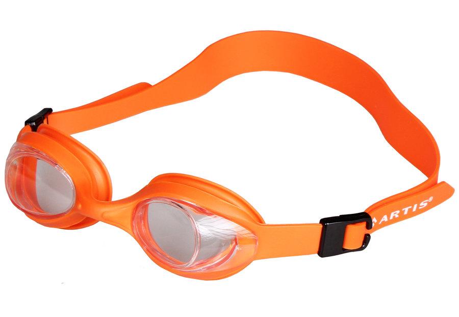 Oranžové dětské chlapecké nebo dívčí plavecké brýle Nisa JR, Artis