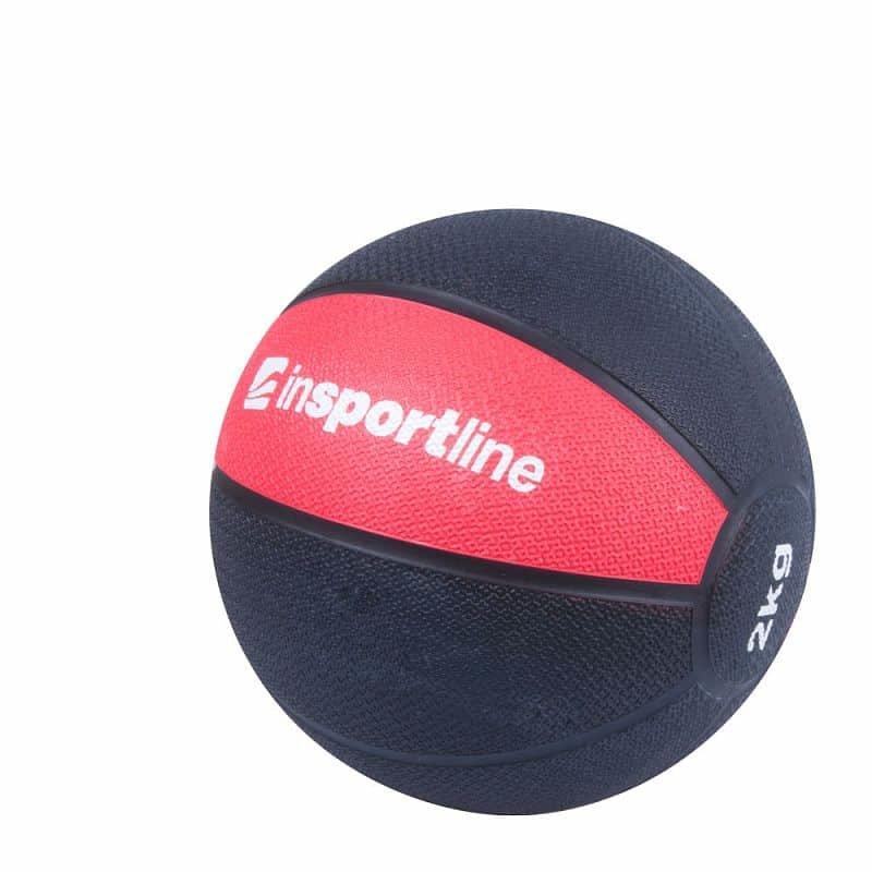 Medicinbal bez úchopů inSPORTline - 2 kg