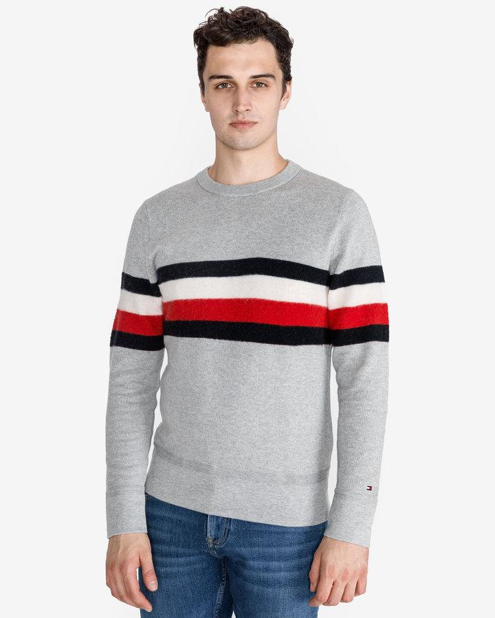 Šedý pánský svetr Tommy Hilfiger - velikost XL