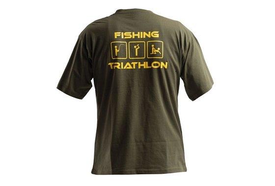 Černé pánské rybářské tričko DOC Fishing - velikost XXL