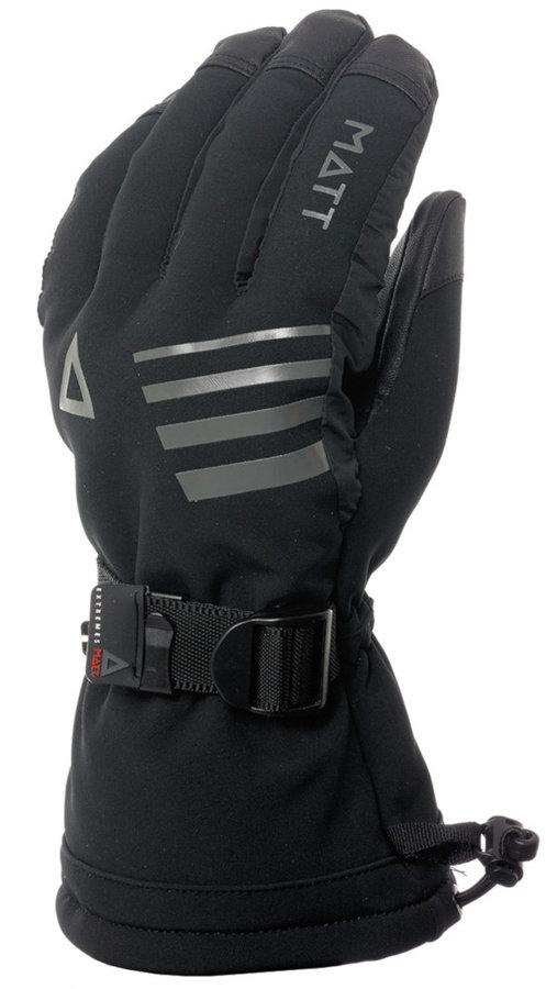 Černé pánské zimní rukavice Matt