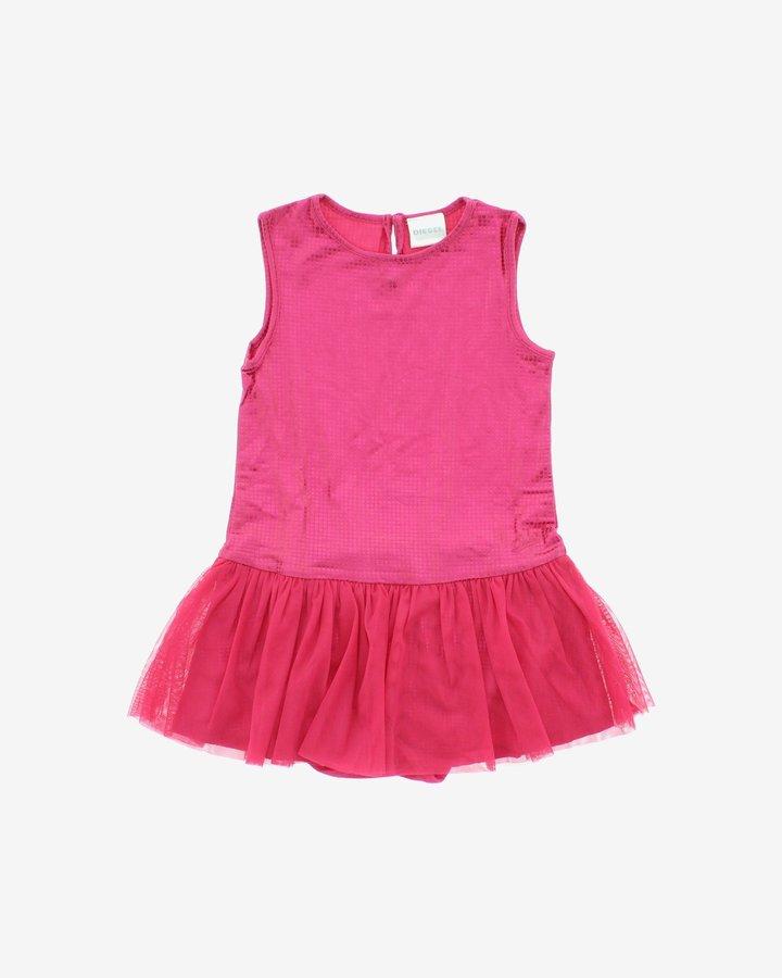Růžové dívčí šaty Diesel - velikost 68