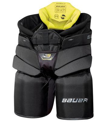 Černé brankářské hokejové kalhoty - senior Bauer - velikost L