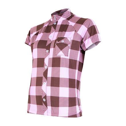 Bílo-růžový dámský cyklistický dres Sensor