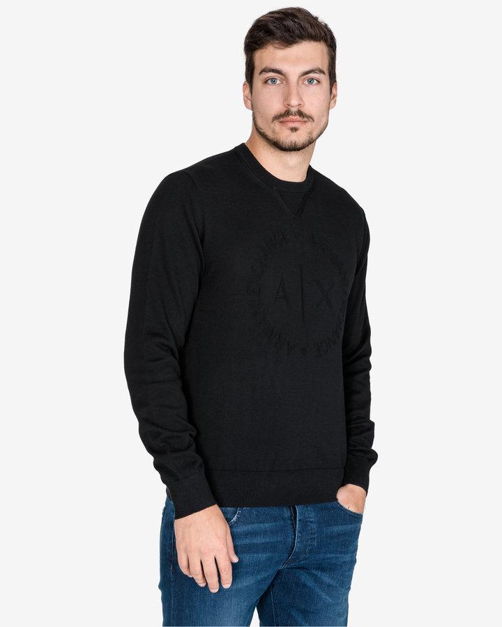 Černý pánský svetr Armani Exchange - velikost XL
