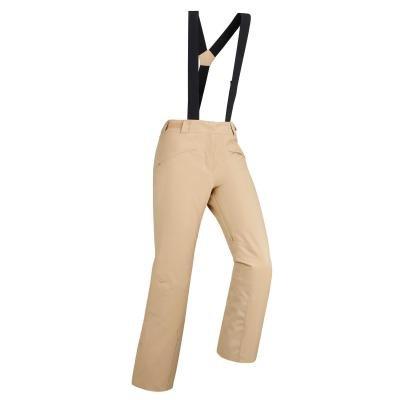 Béžové dámské lyžařské kalhoty Wed'ze - velikost 48