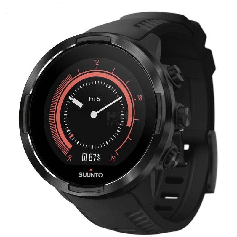 Černé sportovní chytré dámské hodinky 9 G1 Baro, Suunto