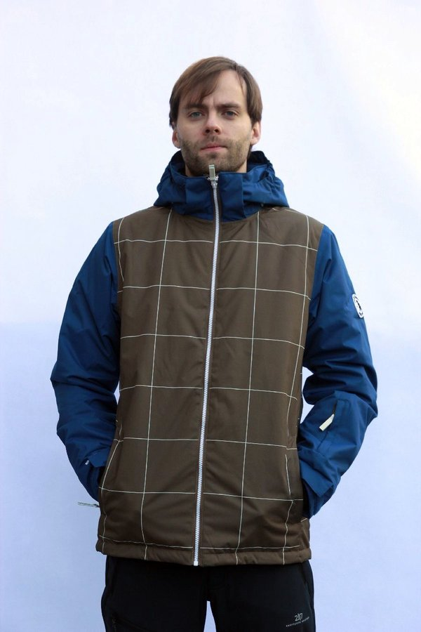 Modro-hnědá pánská lyžařská bunda 2117 of Sweden