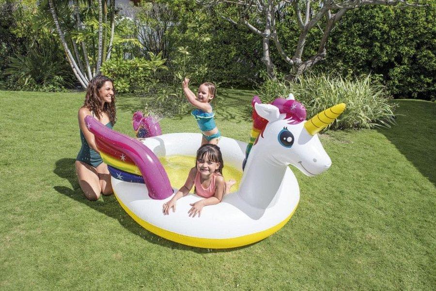 Dětský nafukovací nadzemní oválný bazén INTEX - délka 272 cm, šířka 193 cm a výška 104 cm