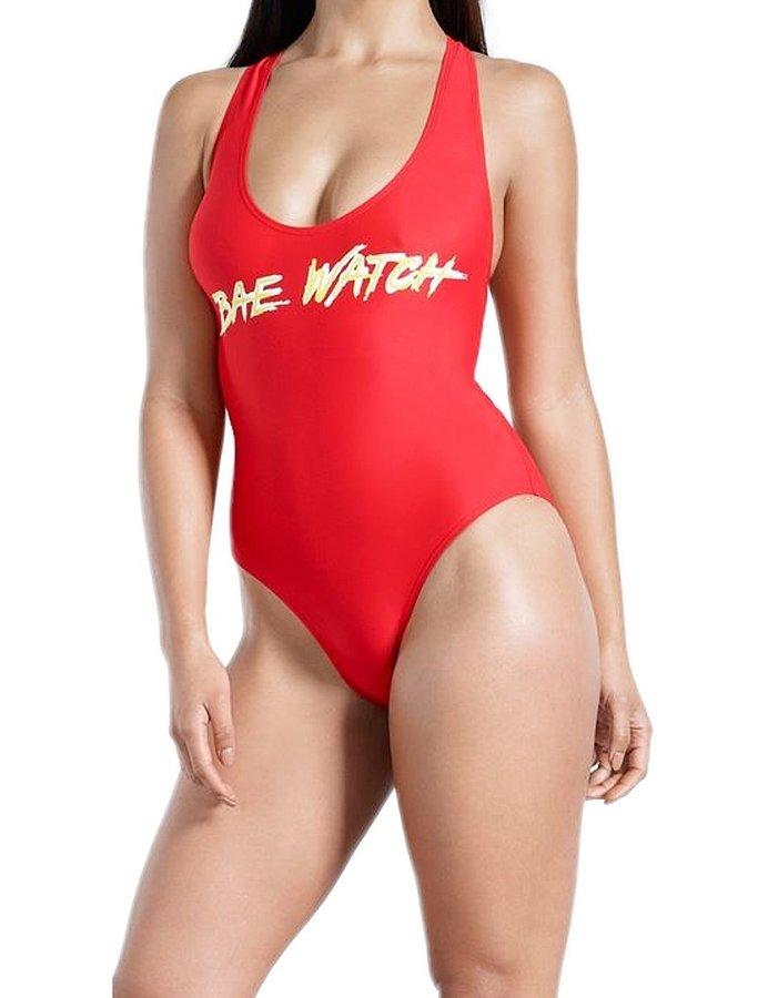 Červené jednodílné plavky Golddigga