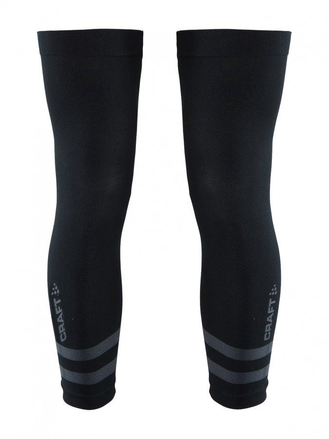 Černé cyklistické návleky na kolena Craft