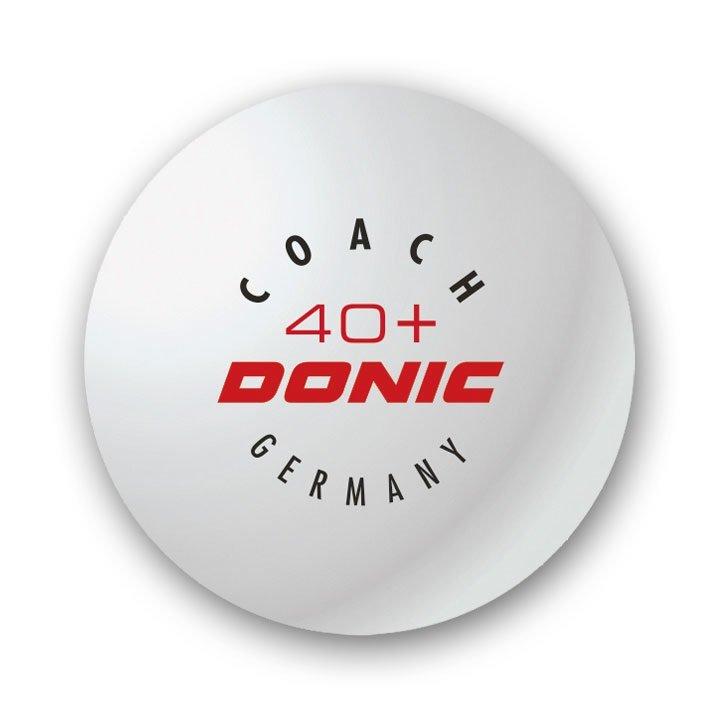 Bílý míček na stolní tenis Donic - 6 ks